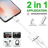 turelar Compatible Headphone Jack Adapter Dongle
