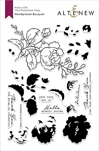 Altenew Handpicked Rose Bouquet, Clear Photopolymer Stamps, 16 Stamps