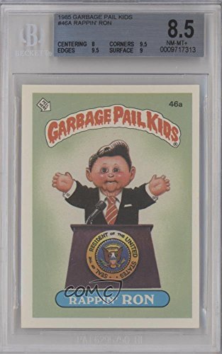 Rappin' Ron (49B: Schizo Fran on Back) BGS GRADED 8.5 (Trading Card) 1985 Topps Garbage Pail Kids Series 2 - [Base] #46a.2 ()
