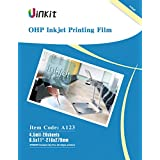 """OHP Film Overhead Projector Film - 8.5x11"""" for Inkjet Printer only Transparency Film 20 Sheets Uinkit"""