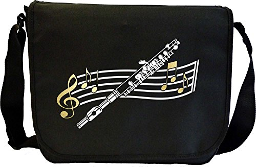 Piccolo Curved Stave - Musik Noten Tasche Sheet Music Document Bag MusicaliTee joFE46