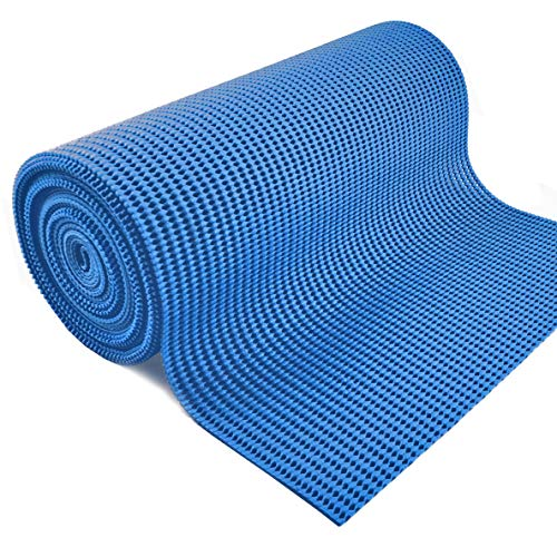 - Grip Liner Non-Adhesive Shelf Liner, Anti-Slip Cabinet Mat Drawer Liner 12 in. x 20 ft. (Blue)