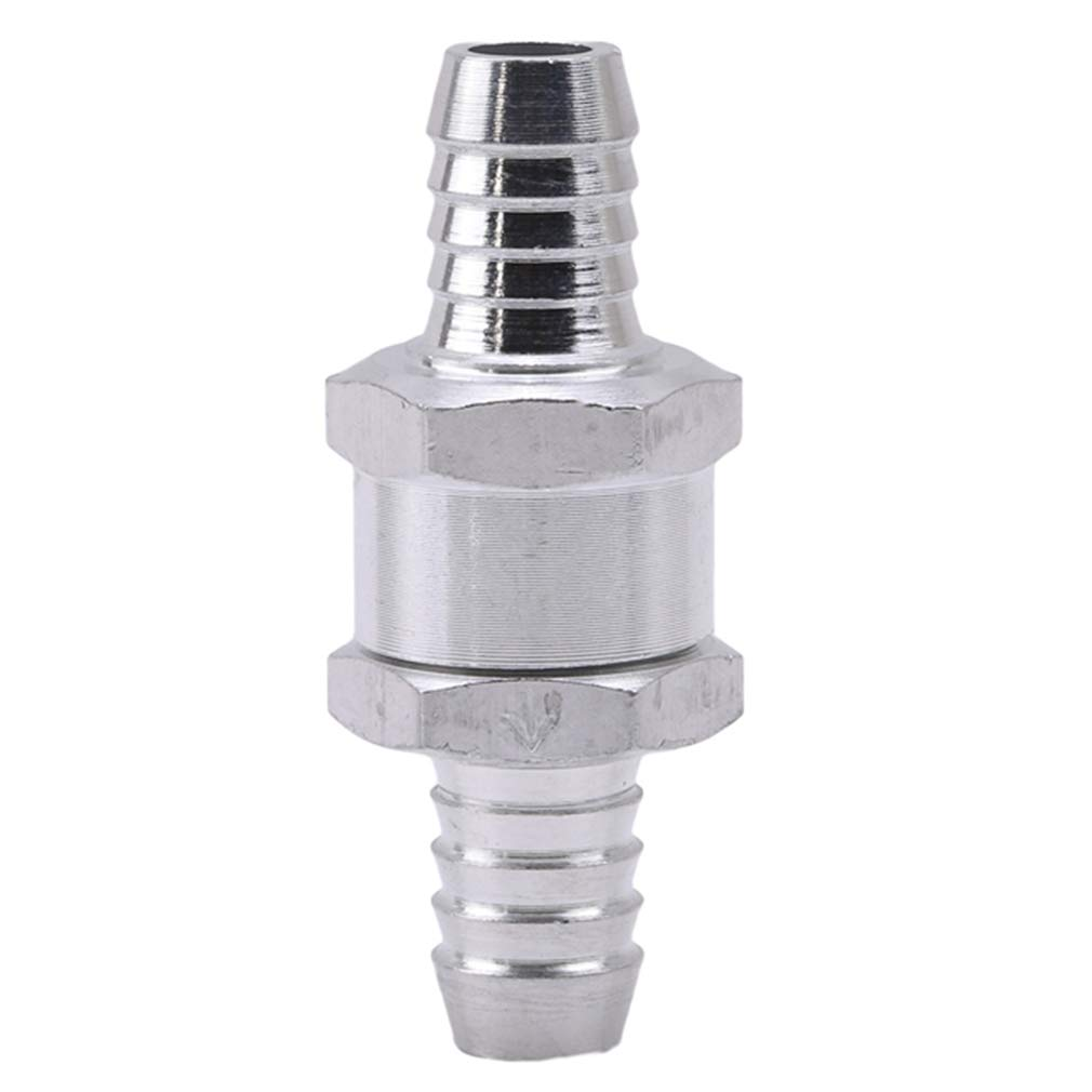 Yinew Aluminium Alloy 6/8/10/12mm Fuel Non Return One Way Check Valve Petrol Diesels, 10MM