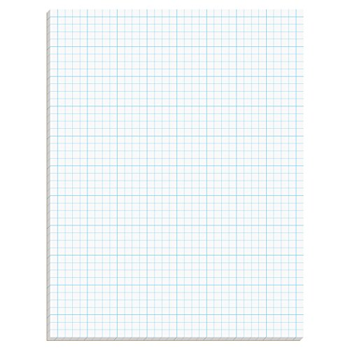 4 Square Letter (TOPS Cross Section Pad, 1 Pad, 4 Squares/Inch, Quadrille Rule, Letter Size, White, 50 Sheets/Pad, 1 Pad (35041))