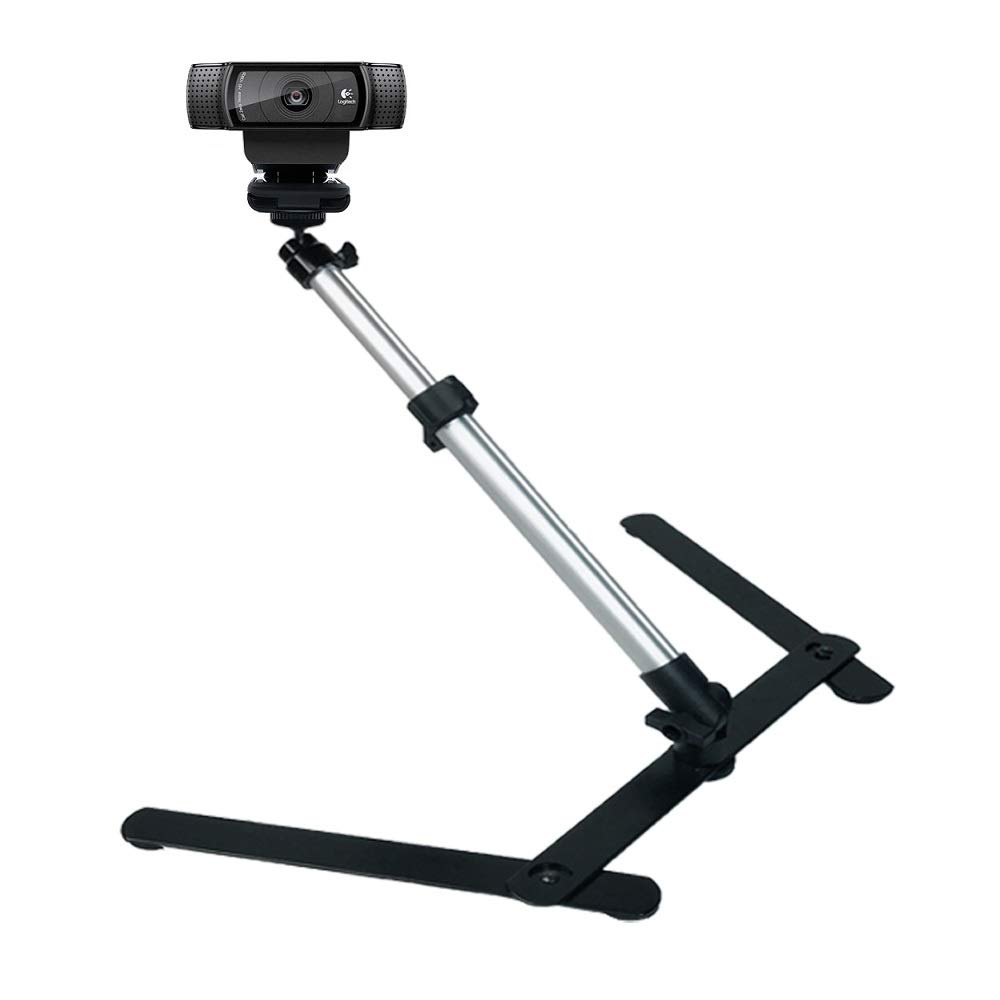 Adjustable Webcam Mount,Overhead Webcam Stand for Logitech C920 C922x C930e C922 C930 C615 C925, Brio 4K - Acetaken by Acetaken