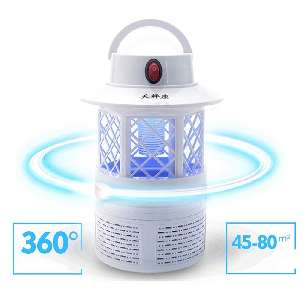 Bug Zapper, Anti-Mosquito Lamp, Safe USB Powered Mosquito Zapper with Built in Fan Insect Trap for Indoor Outdoor Baby Room Bedroom Kitchen Office Camping