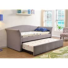 Abbyson Living Pauline Fabric Daybed With Trundle, Gray