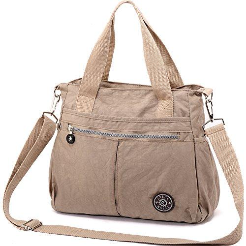 ZYSUN Women's Casual Tote Handbag Water Resistant Nylon Crossbody Bags Large Shoulder Bags