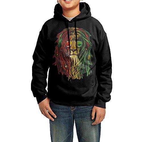 Pants Lion Dance Costumes (GGDD Teenager Unisex Lion Rasta Hair B-boy Funny Hoodie Sweatshirt Leisure Style M)