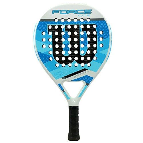 Wilson Force Lite Paddle RKT WHBL - Pala de pádel, Color Blanco/Azul, Talla única: Amazon.es: Deportes y aire libre