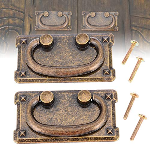 Cabinet Pulls - 2 Set Antique Drawer Pull Handles Bronze Door Cupboard Cabinet Handle Knob With Screws - Hole Finger Nature Twisted Room Handles Single Glass Large Square Flat Screw Kitchen Dr