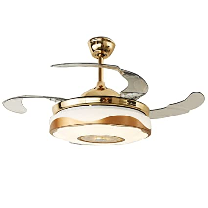 Merveilleux WHYING 42u0027u0027 Modern Fan Chandelier With Bluetooth Remote Control Music  Player Stealth Ceiling Fan