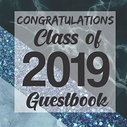 Congratulations Class of 2019 Guestbook: Blue Geo Marble Glitter Graduation Party Guest Sign In Book Registry Graduate Parties Supplies Senior ... Address University College High School