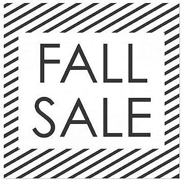 Fall Sale Stripes White Window Cling CGSignLab 24x24 5-Pack