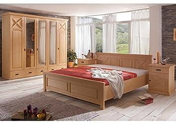 Amazon.de: Schlafzimmer Komplett Gomero Pinie teilmassiv ...
