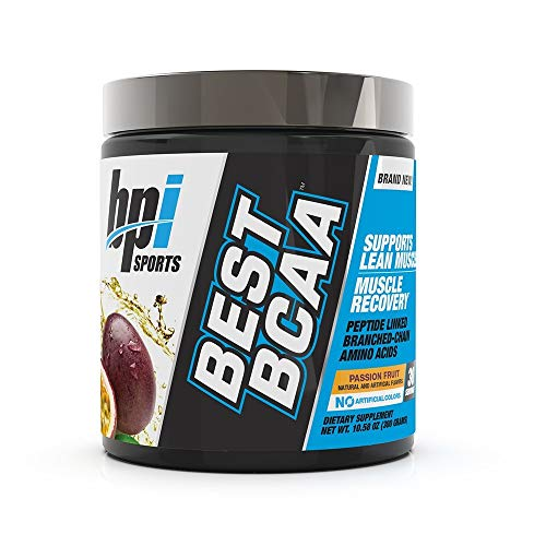 BPI Sports Best BCAA - BCAA Powder - Branched Chain Amino Acids - Muscle Recovery - Muscle Protein Synthesis - Improved Performance - Hydration - Passion Fruit - 30 Servings - 10.58 oz.