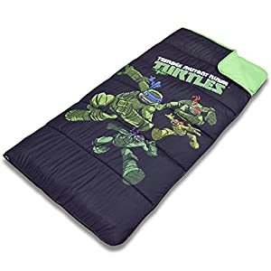 Teenage Mutant Ninja Turtles Sleeping Bag with Storage Bag, Black