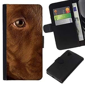 All Phone Most Case / Oferta Especial Cáscara Funda de cuero Monedero Cubierta de proteccion Caso / Wallet Case for LG Nexus 5 D820 D821 // Golden Labrador Retriever Dog Puppy