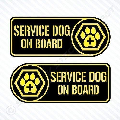 Service Dog On Board Sticker Set Vinyl Decal Labrador for sale  Delivered anywhere in Canada