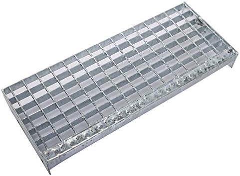 900 x 270 mm SP Schwei/ßpress Industrie Gitterroststufen Treppenstufen MW 30x30 verzinkt