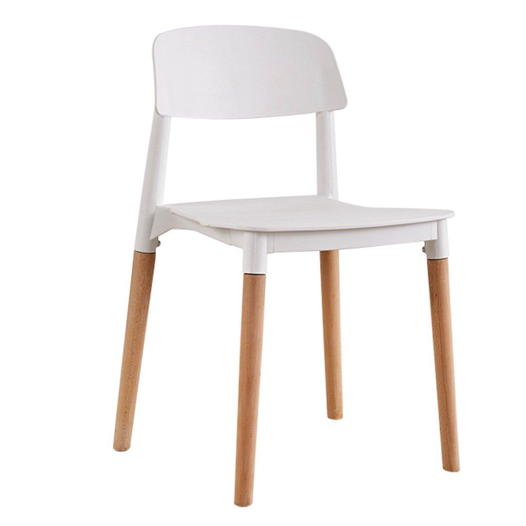 白いダイニングチェア、木製の脚防水プラスチックシートと背のキッチンオフィスビストロレストランカフェチェア (色 : 白, サイズ さいず : Set of 2) B07DFWTBH5 Set of 2|白 白 Set of 2