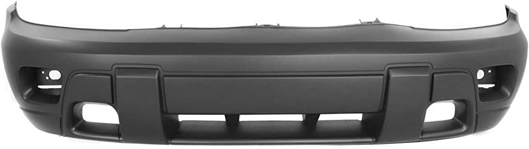 Front Primed Top Bumper Cover With Fog Light Holes Fits Trailblazer GM1000639