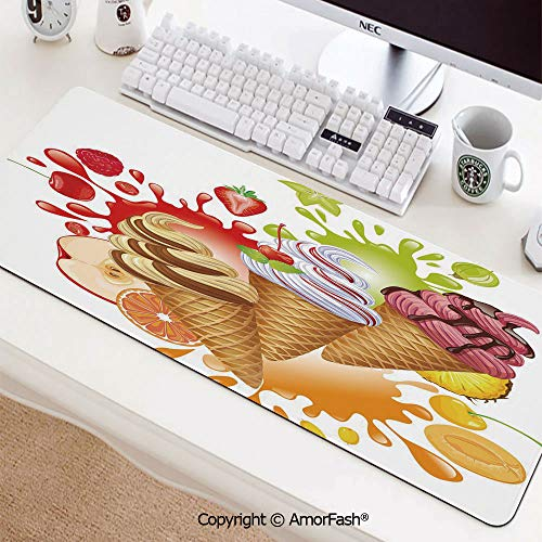 (Anti-Fray Cloth Gaming Mouse Pad High-Performance Mouse Pad Optimized for Gaming Sensors35.5