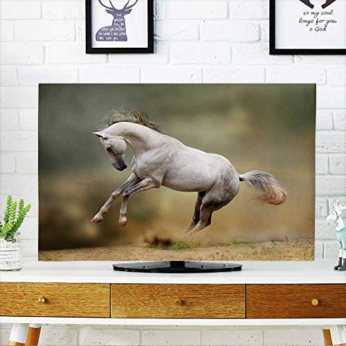 "Price comparison product image PRUNUS TV dust Cover Silver whitestallionplayingindust TV dust Cover W20 x H40 INCH/TV 40""-43"""