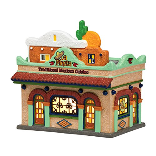 Department 56 Snow Village La Fiesta Restaurante Lit House, 7.48 inch Dept 56 Harley Davidson