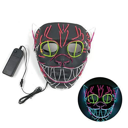 Fun Holiday Supplies Halloween Toy Luminate Pumpkin Mask LED Demon Cosplay Haunted House Mischief Masquerade]()