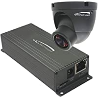 1080p Indoor Mini Turret IP camera, fixed lens, color, black housing