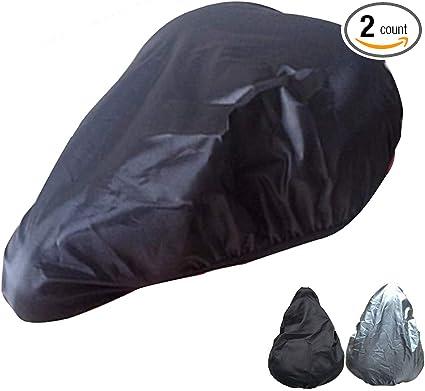 2Pcs Elastic Bike Seat Rain Cover Waterproof Dustproof Bicycle Seat Cover
