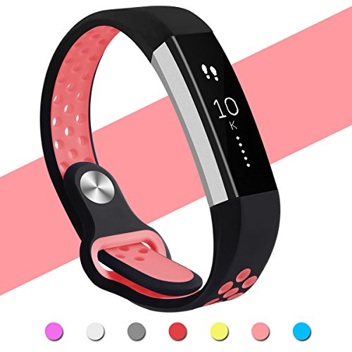 Hanlesi for Fitbit Alta HR Band, Fitbit Alta Band Breathable Soft Silicone Adjustable Fashion Sport Strap Band for Fitbit Alta 2 Replacement Fitness Accessory Wristband with Hole