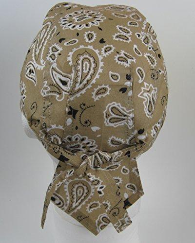 para cachemir con la estampado diseño cabeza pre color atada Bandana de beige pañuelo 1Uxawq4