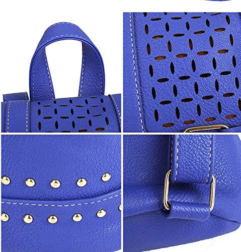 pour Cordon À Dos D'École De De Sac Filles Dos Femmes Beige Adolescentes Bag Les Blue Sacs Sacs Cuir en Sac À À Meaeo Women Dos PU Mode qZwCp5z