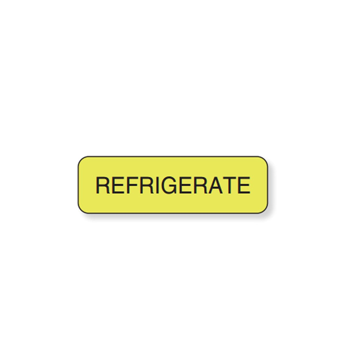 PDC Healthcare 59704139 Label Paper, Permanent Refrigerate, 1 1/4'' x 3/8'', Yellow (Pack of 1000)