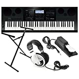 : Casio WK7600 Workstation Keyboard w/ Stand, Sustain Pedal, and Headphones
