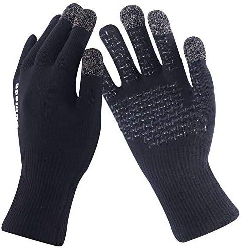 ランニンググローブ ユニセックス タッチスクリーン 防水 防風 暖かい 運転 作業 ハイキング ストレッチ 軽量手袋