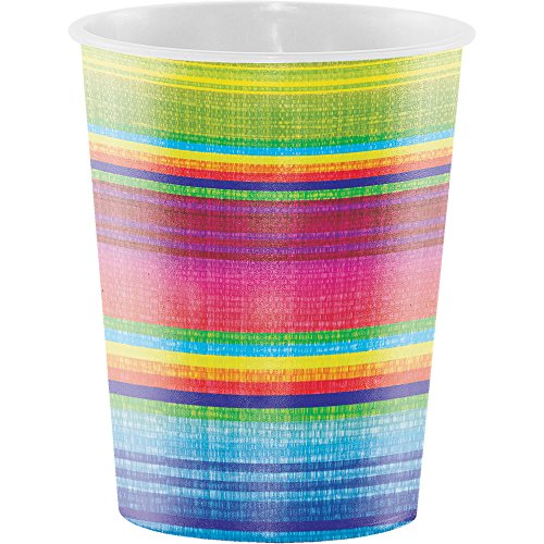Creative Converting Printed Plastic Cups, 16 oz, Serape (Printed Plastic Cups)