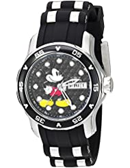 Invicta Womens Disney Limited Edition Quartz Stainless Steel and Silicone Casual Watch, Color:Black (Model:...