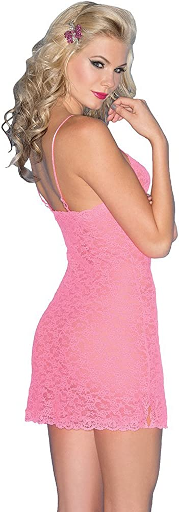 Be Wicked Women's Stretch Lace Chemise: Clothing