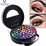 Fullfun 65 Colors Miss Rose Matte Nude Eyeshadow Palette, Women Luxury Golden Eye Shadow Makeup Case