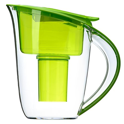 Alkaline Water Pitcher - Best for Instantly Filtered, Clean Water - 3.5 Liter Purifier and Alkalinity Filter, Green