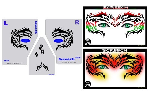 - Face Painting Stencil - StencilEyes Screech - Fantasy