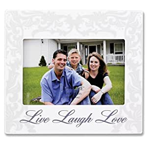 Lawrence Frames 4 by 6-Inch Ivory Live Laugh Love Picture Frame