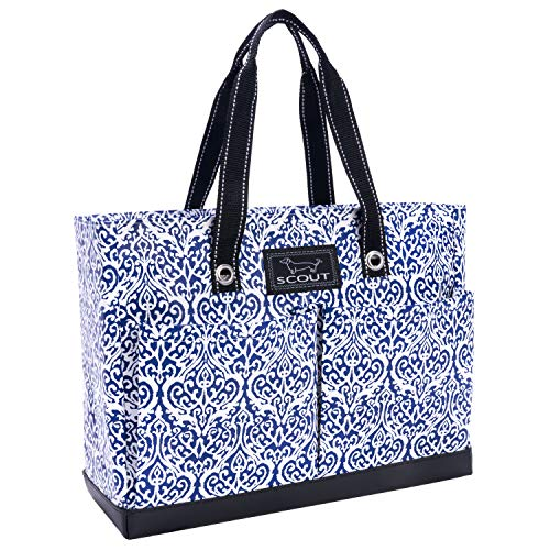 SCOUT Uptown Girl Medium Multi-Pocket Tote Bag, Water Resistant, Zips Closed, Royal Highness