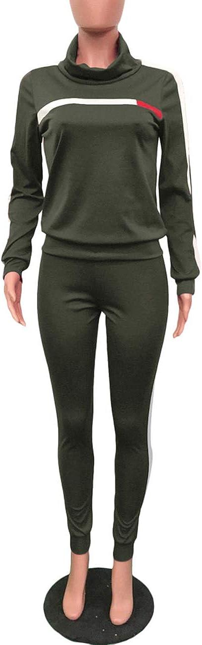 con stampa Akmipoem Tuta da donna a due pezzi include felpa con scollo ampio e morbido e pantalone lungo skinny