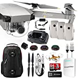 DJI Mavic PRO Platinum UPGRADE COMBO w/ Backpack,3 Batteries, Lens Filters, 64gb+16gb MicroSD, Sunshade, Power Bank Adapter, Battery Bank, iPhone Cable, Lanyard & FREE Mini Drone
