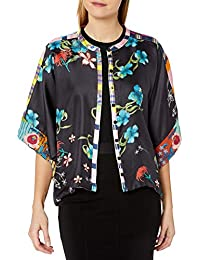 Women's Silk Printed and Reversible Cropped Shrug