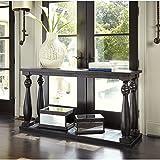 Ashley Furniture Signature Design - Mallacar Sofa Table - Entertainment Console Table - Rectangular - Black